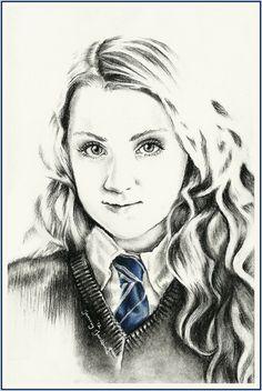 Luna Lovegood drawing by Jenny Jenkins
