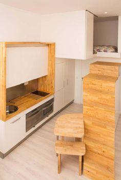 Loft ZURITA. Madrid : Cozinhas minimalistas por Beriot, Bernardini arquitectos