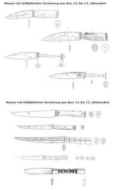 Mittelalter-Messer mit Griffplättchen