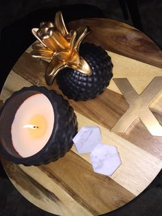 Kmart hacks - put a candle in the yellow pineapple