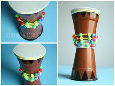 Super African Art For Kids Musical Instruments 44 Ideas African Crafts Kids, African Art For Kids, African Art Projects, Drums For Kids, Drum Lessons For Kids, Vbs Crafts, Diy Crafts For Kids, Instrument Craft, Musical Instruments