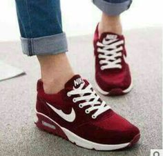 Newest style sneakers Nike burgundy/maroon Women's Shoes, Cute Shoes, Me Too Shoes, Shoe Boots, New Sneakers, Air Max Sneakers, Sneakers Nike, New Style Shoes, Stilettos