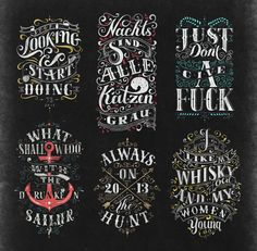 Hand Lettering Works 2013 by Tobias Saul