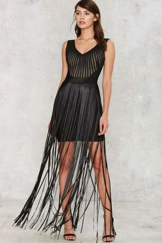 Strands to Myself Fringe Dress - Going Out