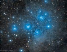 M45: The Pleiades Star Cluster  Image Credit & Copyright: Marco Lorenzi (Glittering Lights)