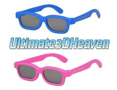 Ultimate 3D Heaven Kids Size Genuine Sealed RealD Compatible Circular Polarized 3D Glasses for RealD Theaters and Passive 3D TV's from Vizio, Toshiba, LG, Philips and JVC - 2 Pairs by 3DHeaven. $0.95