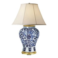 Marlena Small Lamp in Blue and White - Table Lamps - Lighting - Products - Ralph Lauren Home - RalphLaurenHome.com