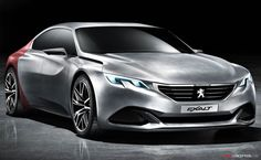 The Peugeot Exalt Concept   A New Sports Saloon Concept Evoking The Peugeot  Onyx Concept   Has Been Revealed Early Ahead Of A Beijing Motor Show Debut.