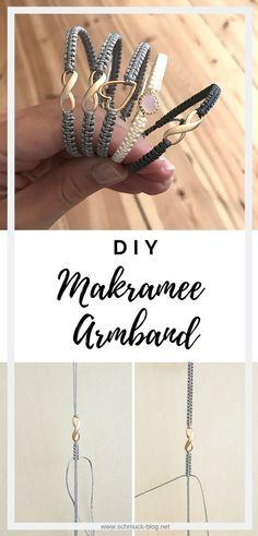 Einfache Anleitung um schöne Makramee Armbänder zu knüpfen. Die perfekte DIY Geschenkidee oder auch zum selbst tragen. DIY Schmuck für kreative Köpfe ♥