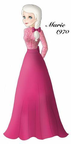 Marie designer gown by ruletheworldwithsong on DeviantArt Disney Fan Art, Disney Style, Disney Love, Tomboy Kids, Marie Cat, Disney Illustration, Marie Aristocats, Disney Animated Movies, Disney Designs