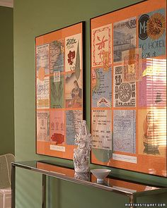 Frame all the tickets, maps, menus, brochures etc. from all your trips!
