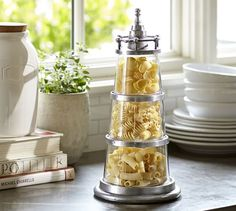 Lighthouse Stacking Canisters | Pottery Barn