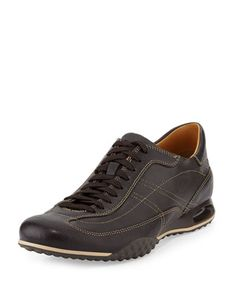 Air Granada Leather Sneaker, Dark Brown by Cole Haan at Neiman Marcus Last Call. For my AFO Ankle Foot Orthodic Braces so walk short distances but because I couldn't find designer shoes I just don't wear them. I wear size 11 & these are 14 I need shoes to be 3 sizes to accommodate the braces on my feet. Its like those Run Forrest Run things \ o /