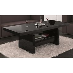 Ebern Designs A beautiful, very practical coffee table that can be converted into a dining table. Coffee Table To Dining Table, Extendable Coffee Table, Black Coffee Tables, Lift Top Coffee Table, Cool Coffee Tables, Coffee Table With Storage, High Top Tables, Bedroom False Ceiling Design, Elegant Living Room