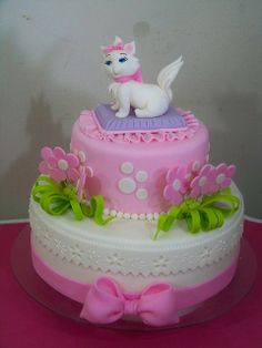 Cute Kitty Cake  (Cute for Lola's next birthday.)
