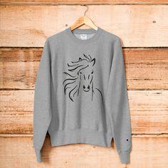 Horse Champion Sweatshirt Champion Sweatshirt, Horse, Lovers, Trending Outfits, Sweatshirts, Sweaters, Clothes, Vintage, Fashion