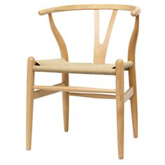 Wenger Wood Chair with Hemp Seat $135