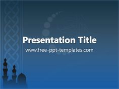 Background Powerpoint Islamic Islam Ppt Template Free