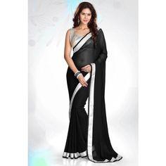 Designer Bollywood Indian Traditional Partywear Black silwar les Saree