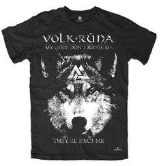 camiseta deuses lobo odin valknut paganismo nórdico runas