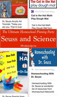 Seuss and Science at The Ultimate Homeschool Pinning Party