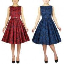 Chic Star Printed Sleeveless Swing Dress