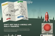 guide to the app galaxy 35 Interactive Parallax Scrolling Website Designs