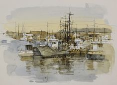 watercolor and pencil,by Chien Chung Wei
