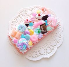 CUSTOM Handmade Yummy Decoden Phone Case Kawaii Kitsch