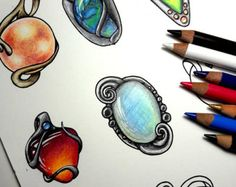 Gem Coloring Class video and color along