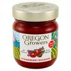 Oregon Growers & Shippers Strawberry Rhubarb Fruit Spread 12 oz.