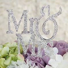 Mr & Mrs Monogram Cake Toppers Crystal Wedding Cake Topper Bling (Silver Silhouette) Yacanna http://www.amazon.com/dp/B01AL31NVU/ref=cm_sw_r_pi_dp_Zmcbxb1138XB3