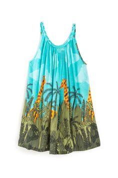 Vestido Girafas - alto verão 2017