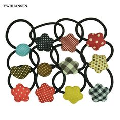 YWHUANSEN Free shipping 10pcs/lot new arrival double layer metal hair band Bowknot elastic for hair Fashion ponytail holder wear #jewelry, #women, #men, #hats, #watches, #belts