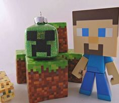 Creeper Minecraft Ornament Amazing Minecraft, Cool Minecraft Houses, Minecraft Pixel Art, Creeper Minecraft, Minecraft Crafts, Minecraft Skins, Minecraft Buildings, Pearler Beads, Fuse Beads