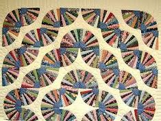 Grandmother& Fan Quilt -- splendid smartly made Amish Quilts from Lancaster Amish Quilts, Scrappy Quilts, Crazy Patchwork, Crazy Quilting, Dresden Plate Quilts, Tie Quilt, Quilt Bedding, Quilting Patterns, Comforters
