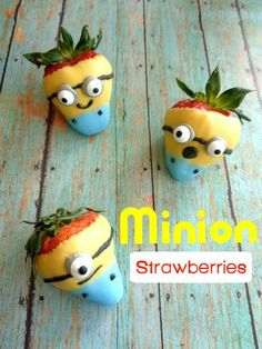 Try making these Minion Strawberries for your favorite Minion fan!
