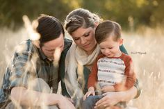 Outdoor family portrait - Redding CA Newborn Photographer - Dani D Photography