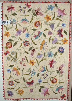 Courtepointe Quebec #Quilts :: Salon 2008 :: by Frangines, via Flickr #applique