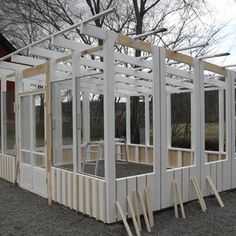 Greenhouse Plans, Greenhouse Gardening, Sunrooms And Decks, Tiny House Storage, Vegetable Garden Design, Outdoor Kitchen Design, Wooden House, Garden Boxes, Play Houses