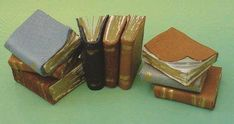 how to: miniature aged books