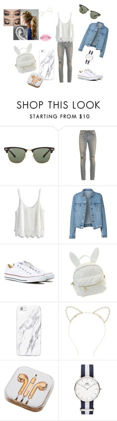 """""""perfect for a day out"""" by alexia2101 on Polyvore featuring mode, Ray-Ban, Yves Saint Laurent, Chicwish, Converse, cutekawaii, Lipsy en PhunkeeTree"""