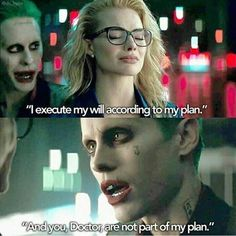 That dude is pure evil and he turned sweet little Doctor into his evil queen just for kicks and giggles. She makes a badass evil queen though. Harley And Joker Love, Joker And Harley Quinn, Joker Quotes, Movie Quotes, Grunge Goth, Dc Comics Peliculas, Harey Quinn, Kings & Queens, Jared Leto Joker