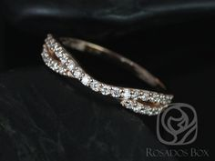 This ring is designed for rings that have a slightly lower basket. The Bree can be worn by itself of stacked with the engagement ring.  All stones used are only premium cut, fairly traded, and/or conflict-free! Our diamonds are always natural NEVER treated or enhanced for better color or clarity. Our products are only crafted with the finest of recycled metals. Rosados Box™ works hard to save the world one piece of jewelry at a time! :)  To see the Bree paired with engagement rings, plea...