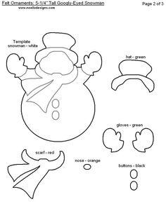 Immagine di dettaglio per-Free Printable Modelli Ornamento di Natale - Feltro - Pagina 2