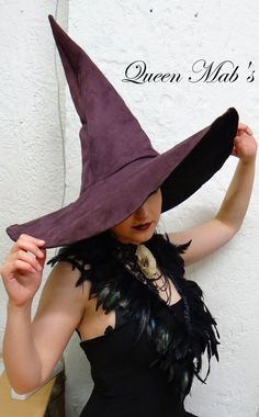 The Purple Witch or Wizard Extra Large White by QueenMabStore Vintage Witch, Vintage Halloween, Halloween Party, Halloween Costumes, Halloween Decorations, Wizard Costume, Devil Costume, Halloween Witches, Halloween Stuff