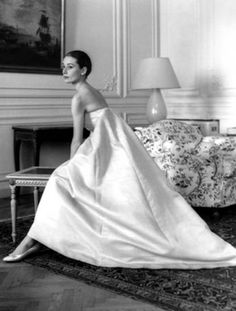 Photo Howell Conant 1958 Audrey Hepburn at a dress fitting with Hubert de Givenchy