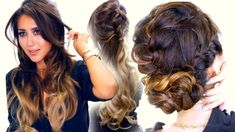 2 Summer BRAID / Cute Half-Updo & Messy Bun Hairstyles