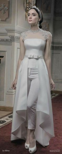 Le Rina 2015 Wedding Dresses - World of Bridal Wedding Robe, Wedding Pants, Wedding Attire, Wedding Gowns, Lace Wedding, 2015 Wedding Dresses, Bridesmaid Dresses, Prom Dresses, Wedding 2015