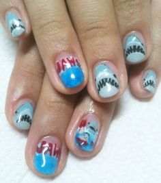 Jaws Nails for my next Shark Cage Dive!! :)
